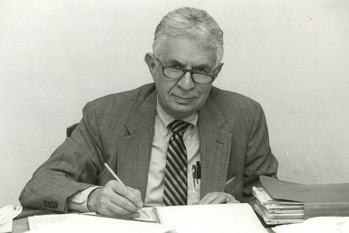 Photos of Bill Breeze, former Special Assistant to the President and Vice President of External Affairs. Breeze died on Friday, June 26 at 91. Date of photos unknown.