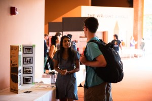 Roop Patel '22 presented her recent internship experience during the 2019 Summer Internship Showcase.