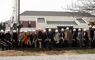 The Centre Community held a ground breaking ceremony for Olin hall and the current renovation project taking place.