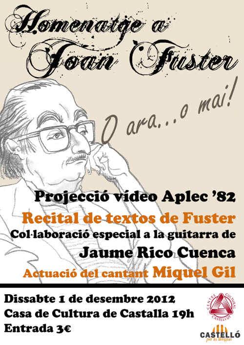 Homenatge a Joan Fuster