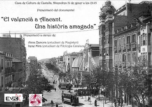 El valencià a Alacant