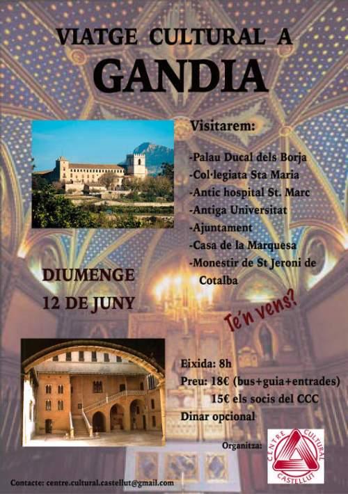 Gandia Viatge Cultural Centre Cultural Castellut