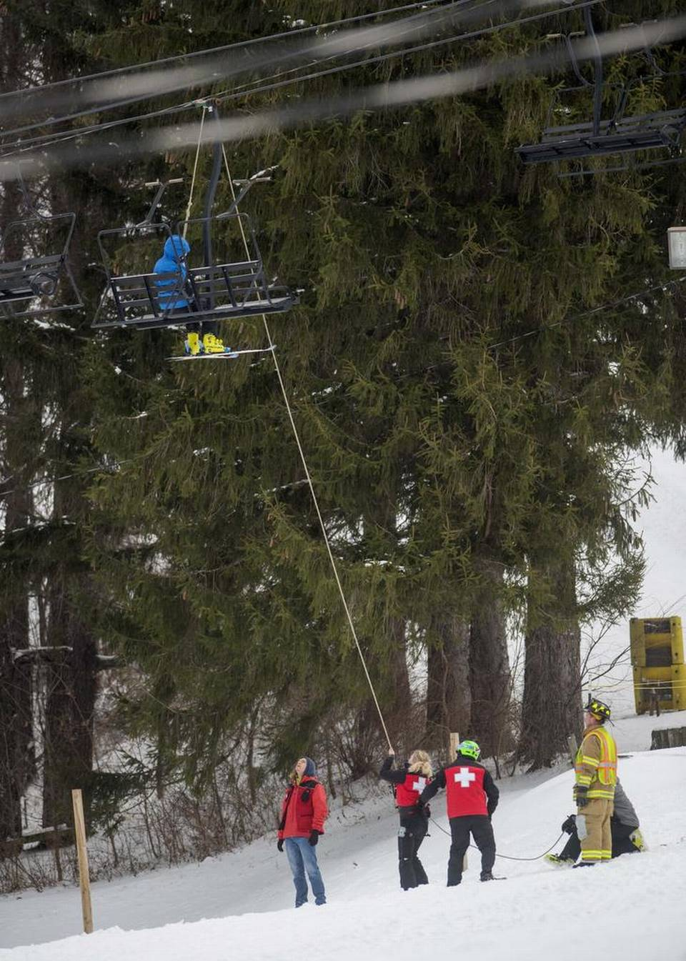 ski chair lift malfunction mechanic creeper 5 injured in tussey mountain centre daily times