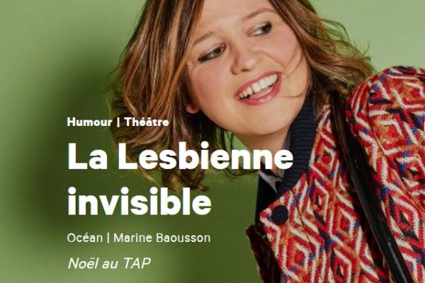 Affiche spectacle la lesbienne invisible