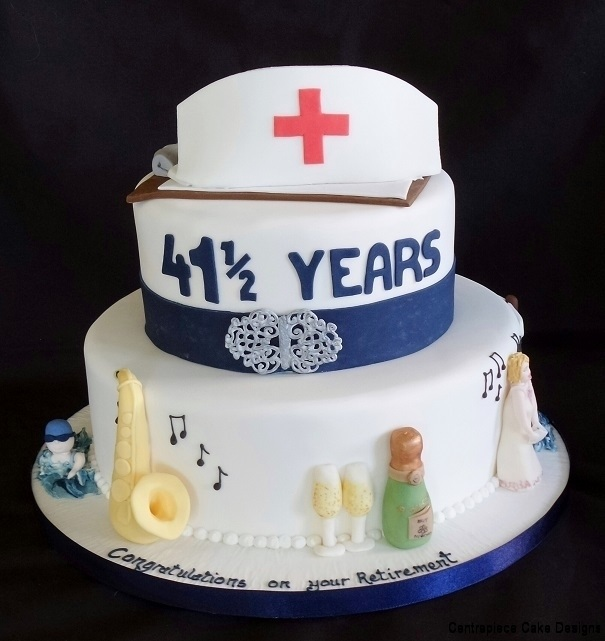 Retirement Cakes From 5500 Centrepiece Cake Designs Isle Of Wight