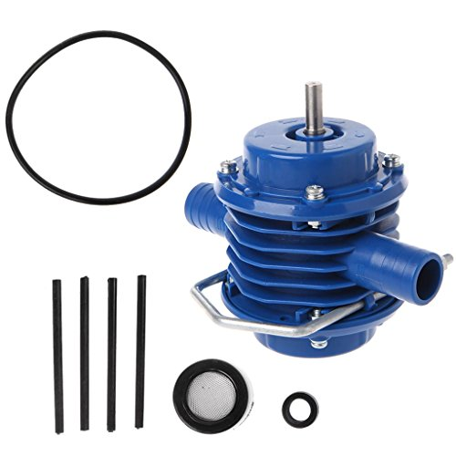 Drill Pump,Household Small Pump Self-Priming Hand Drill Water Pumps Garden Courtyard Mini Self-Priming Engineering Plastics Hand Electric Drill Water Pump Blue