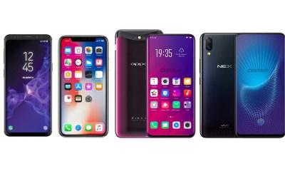 Oppo Find X vs Vivo Nex vs iPhone X vs Mi Mix 2S vs Galaxy S9 Plus- Flagship Phones Comparison
