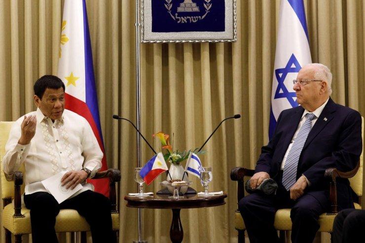 Reuven Rivlin, Rodrigo Duterte Israel
