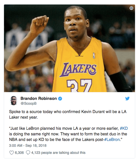 LA Lakers targeting Kevin Durant, Klay Thompson in free agency 2019 to compliment LeBron James 004