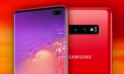 new samsung galaxyy s10 cardinal red 20034e