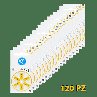 batterie gialle per apparecchio acustico in vendita 120pz
