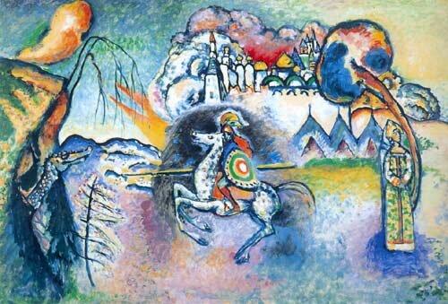 Risultati immagini per Kandinskij,il cavaliere