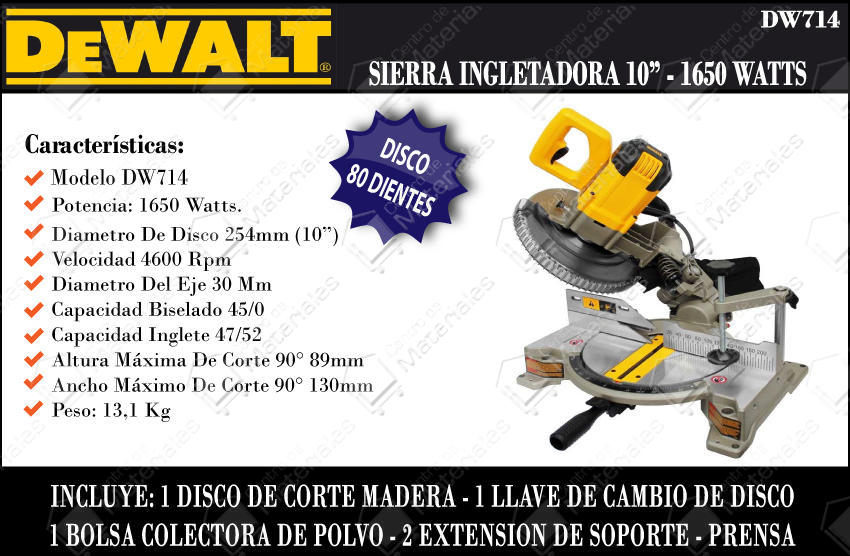Sierra Ingletadora Dewalt Dw713