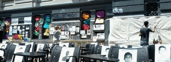 Intervención cultural en Uruguay contra el terrorismo de estado en México