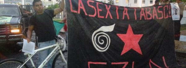 Villahermosa, marcha del 1 de diciembre por organizaciones sociales y civiles de Tabasco.