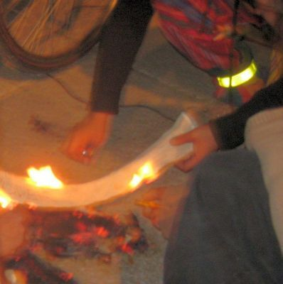 quemando mordazas