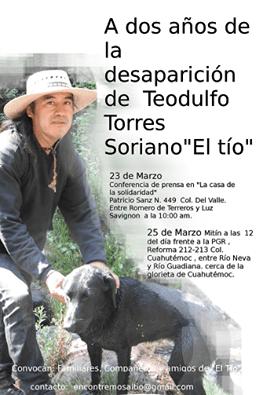 A dos años de la desaparicion de Teodulfo Torres