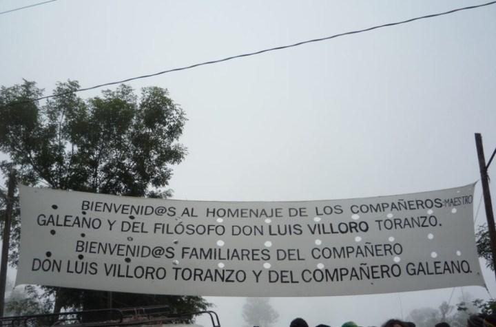 Homenaje Galeano y Villoro