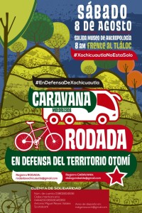 Caravana y rodada por Xochicuautla