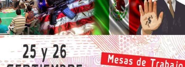 Convocatoria al Primer Encuentro Nacional por Ayotzinapa en Estados Unidos.
