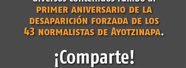 43, 42… Cuenta regresiva a 43 días de cumplirse un año de la desaparición de los 43 de Ayotzinapa
