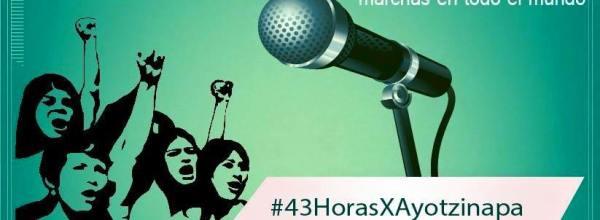 Ecuador: Jornada radial de 43 horas por Ayotzinapa