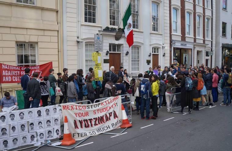 Londres con Ayotzinapa a 1 año 2