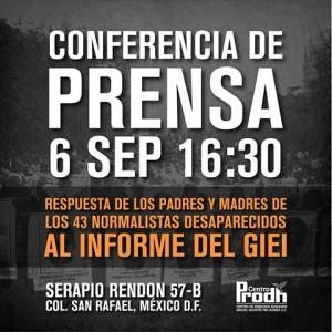 Padres y madres de Ayotzinapa responderan al informe del GIEI-CIDH