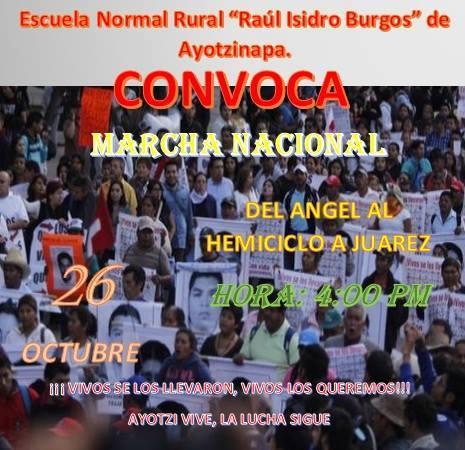 20151026 Marcha Nacional por los 43 de Ayotzinapa