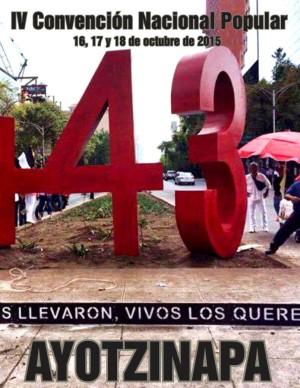 IV Convencion Nacional Popular Ayotzinapa-