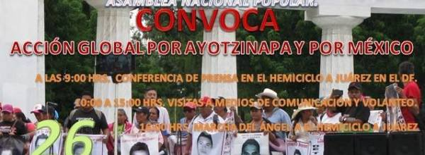 26 oct: XVII Acción Global por Ayotzinapa