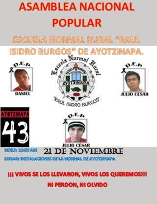 20151121Asamblea Nacional Popular en Ayotzinapa