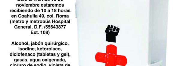 13 nov: Acopio de botiquín para Ayotzinapa