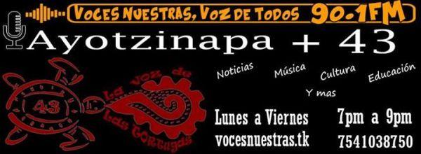 De 7 a 9 sintoniza La Voz de las Tortugas por Radio Ayotzinapa