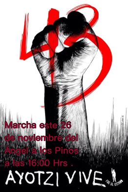 XVIII Accion Global por Ayotzinapa