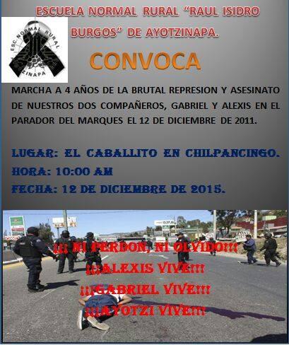 20151212 Ayotzinapa marcha