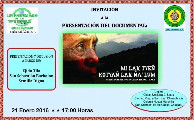EjidoTila Cideci invitacion presentacion Mi lak tyeñ 1