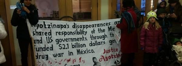 Estados Unidos se une a la XX Acción Global por Ayotzinapa