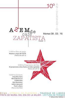 10 años de la mesa de cafe zapatista en la UAM-Iztapalapa