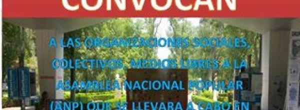 18 jun: Convocatoria a la Asamblea Nacional Popular en Ayotzinapa