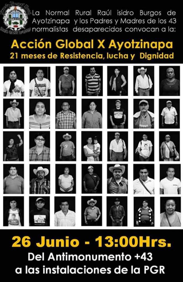 20160626 Accion Global por Ayotzinapa-