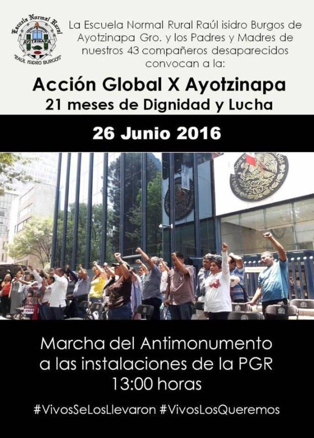 20160626 Accion Global por Ayotzinapa