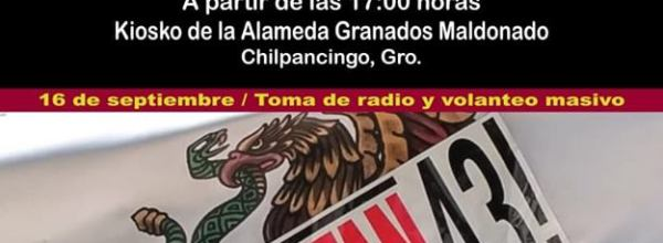 Antigrito por los 43 de Ayotzinapa