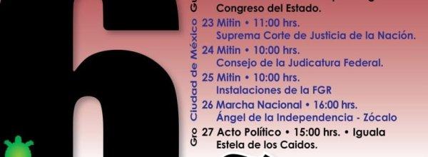 21-27 sep: Movilizaciones a 6 años de los 43 de Ayotzinapa: Caminando con el corazón