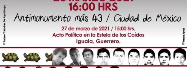 26 mar: LXXVIII Acción Global por Ayotzinapa y México