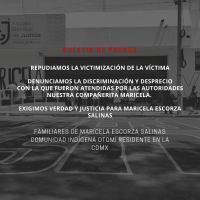 Preguntas de la Comunidad Otomí Residente en la Ciudad de México sobre la desaparición de Maricela Escorza Salinas