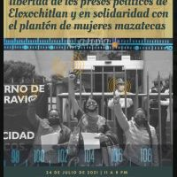 24 jul, 11 a 20 hrs: Cadenazo radiofónico por la libertad de los presos políticos de Eloxochitlán
