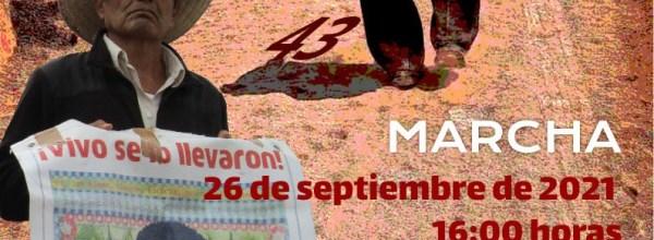 Movilizaciones a 7 años de la desaparición de los 43 de Ayotzinapa