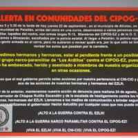 ¡¡ALERTA EN COMUNIDADES DEL CIPOG-EZ!!