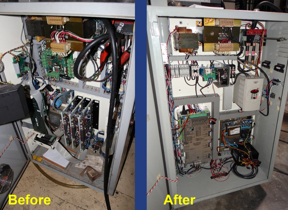 medium resolution of bridgeport cnc electrical cabinet before and after cnc upgrade